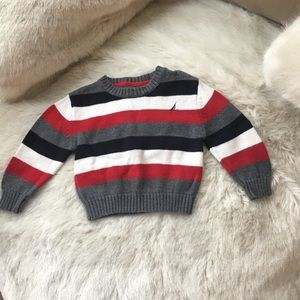 Nautica stripe cotton sweater red blue 6-12month